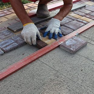 укладка тротуарной плитки Вишневое