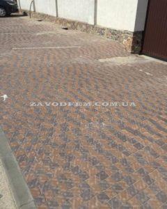 Тротуарная плитка Креатив коричневый персиковый